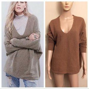 """Free people """"softly vee"""" wool blend sweater"""